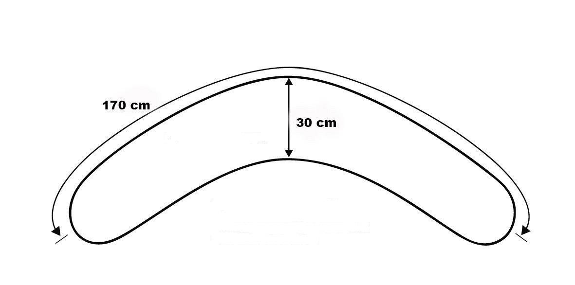 Cuscino Allattamento Sei Design Dimensioni dichiarate