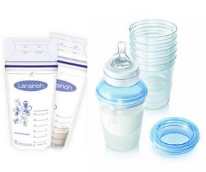 sacchetti e contenitori rigidi per la conservazione del latte materno