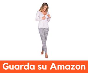 0e5a28d08442 Manica Lunga Italian Fashion -. Pigiama da allattamento in due pezzi. 100%  cotone anallergico e traspirante. Pratica apertura a bottoni per ...