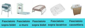 fasciatoi vari tipi in commercio