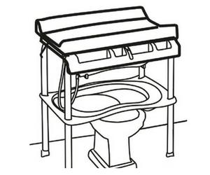 Fasciatoio sopra bidet scopri i migliori - Cambio pannolino in bagno ...